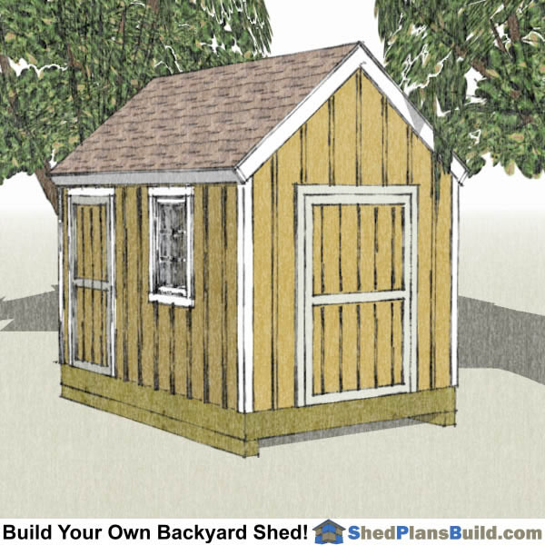 8x12 Garden Shed Plans Build Your Own 8x12 Garden Shed