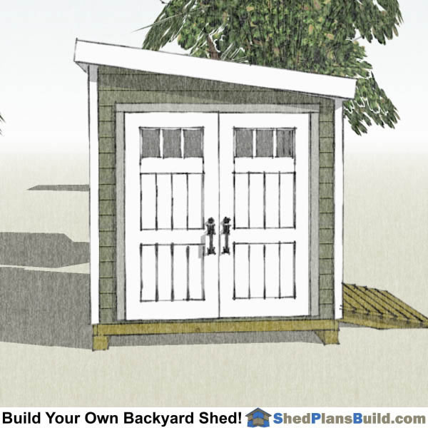 8x12 Lean To Shed Plans End View