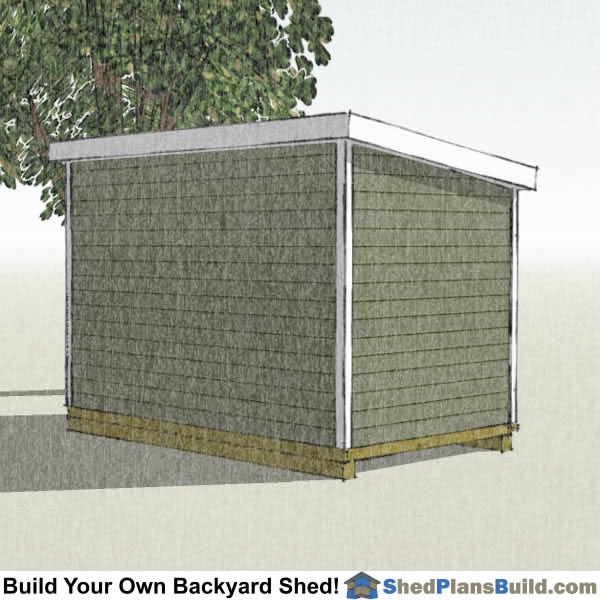 8x12 Lean To Shed Plans Left Rear