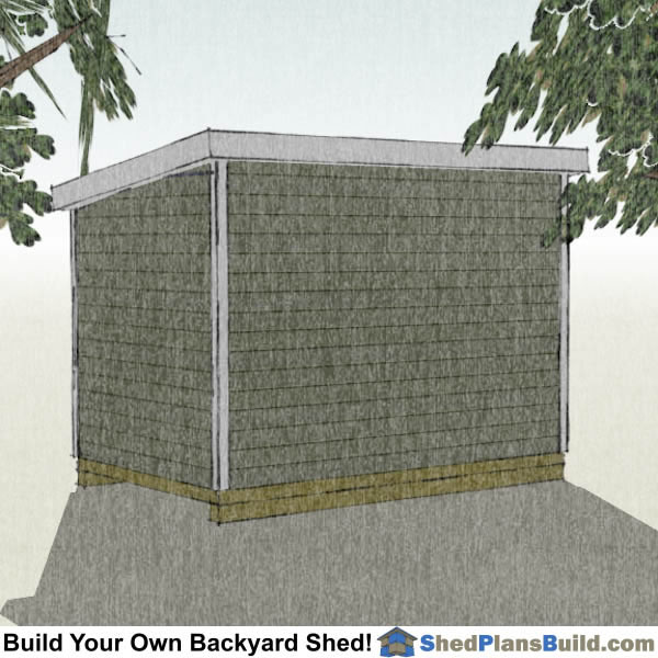 8x12 Lean To Shed Plans Right Rear