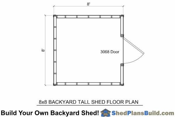 8x8 Backyard Storage Shed Shed Plans