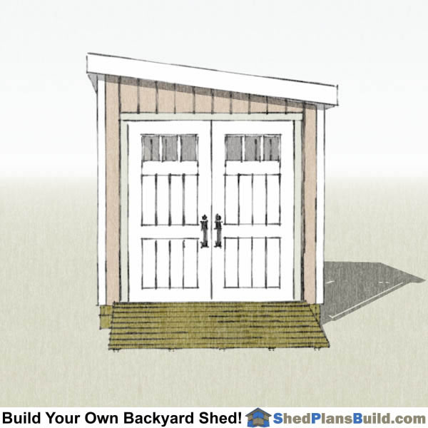 8x8 Lean To Shed Plans End View