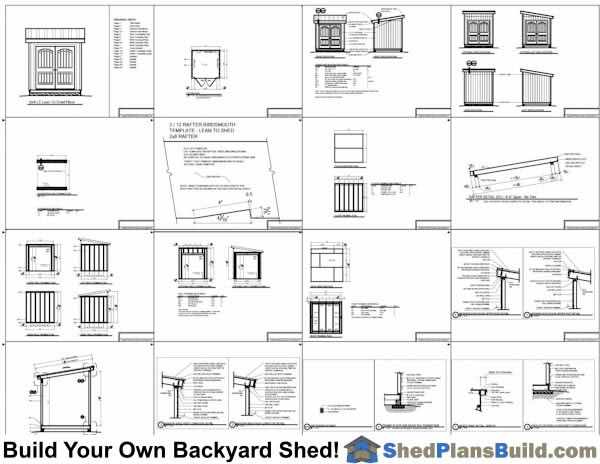 8x8 Lean To Shed Plans Example: