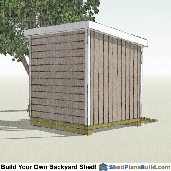 8x8 Lean To Shed Plans Left Rear