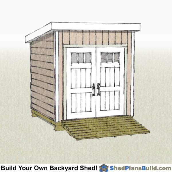 8x8 Lean to Shed Plans Right