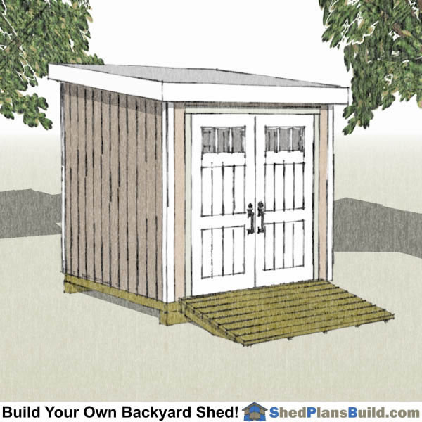 8x8 Lean to shed plans