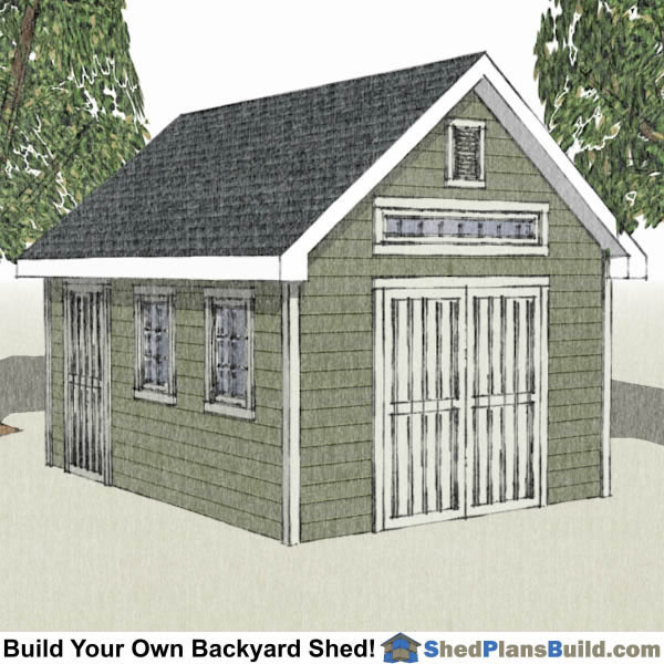 12x16 Tv Traditional Victorian Garden Shed Plans