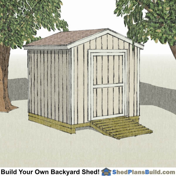 8x8 backyard shed plans build your own 8x8 backyard shed for Build your own barn online